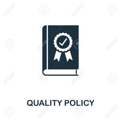 Quality Policy vector icon illustration. Creative sign from quality control icons collection. Filled flat Quality Policy icon for computer and mobile. Symbol, logo vector graphics.